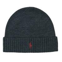 纺织配件 男士 毛线帽 Polo Ralph Lauren Merino Wool Beanie 灰色 / Fonce