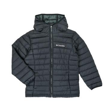 衣服 男孩 羽绒服 Columbia 哥伦比亚 POWDER LITE HOODED JACKET 黑色