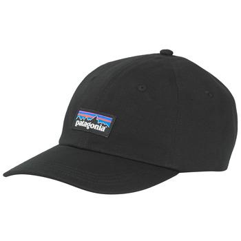 纺织配件 男士 鸭舌帽 Patagonia 巴塔哥尼亚 P-6 LABEL TRAD CAP 黑色