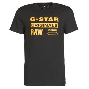 衣服 男士 短袖体恤 G-Star Raw COMPACT JERSEY O Dk / 黑色
