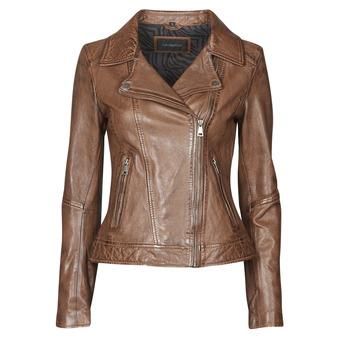 衣服 女士 皮夹克/ 人造皮革夹克 Oakwood FOLLOW 棕色