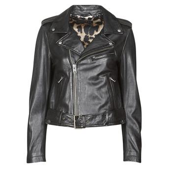 衣服 女士 皮夹克/ 人造皮革夹克 Oakwood RADIO 黑色