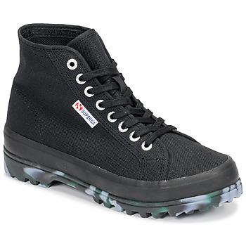 鞋子 女士 高帮鞋 Superga 2341 ALPINA MARBLEGUM 黑色