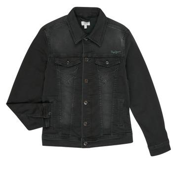 衣服 男孩 牛仔外套 Pepe jeans LEGENDARY 黑色