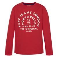 衣服 男孩 长袖T恤 Pepe jeans ANTONI 红色