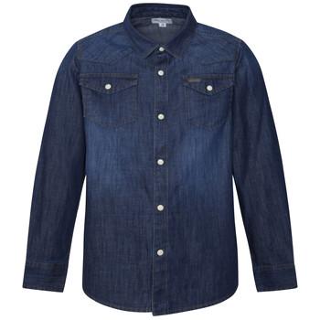 衣服 男孩 长袖衬衫 Pepe jeans JHON 蓝色
