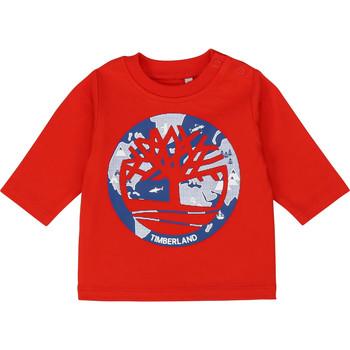 衣服 男孩 长袖T恤 Timberland 添柏岚 T95889 红色