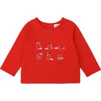 衣服 女孩 长袖T恤 Carrément Beau Y95252 红色