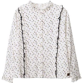 衣服 女孩 女士上衣/罩衫 Carrément Beau Y15356 白色