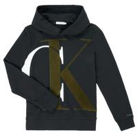 衣服 男孩 卫衣 Calvin Klein Jeans IB0IB00628-BEH 黑色