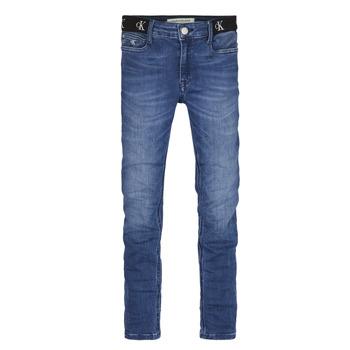 衣服 女孩 牛仔铅笔裤 Calvin Klein Jeans IG0IG00639-1A4 蓝色