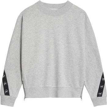 衣服 女孩 卫衣 Calvin Klein Jeans IG0IG00687-PZ2 灰色