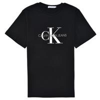 衣服 儿童 短袖体恤 Calvin Klein Jeans MONOGRAM 黑色