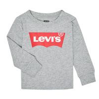 衣服 男孩 长袖T恤 Levi's 李维斯 BATWING TEE LS 灰色