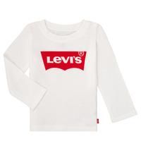 衣服 女孩 长袖T恤 Levi's 李维斯 BATWING TEE LS 白色