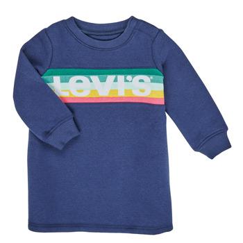 衣服 女孩 短裙 Levi's 李维斯 SWEATSHIRT DRESS 蓝色