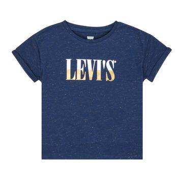 衣服 女孩 短袖体恤 Levi's 李维斯 DROP SHOULDER TEE 蓝色