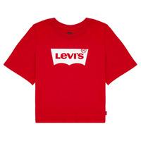 衣服 女孩 短袖体恤 Levi's 李维斯 LIGHT BRIGHT CROPPED TEE 红色