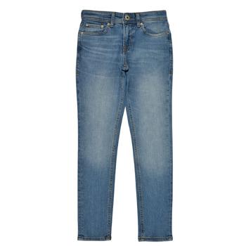 衣服 男孩 紧身牛仔裤 Jack & Jones 杰克琼斯 JJILIAM 蓝色