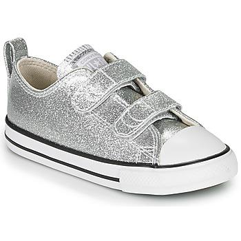 鞋子 女孩 球鞋基本款 Converse 匡威 CHUCK TAYLOR ALL STAR 2V - COATED GLITTER 银灰色