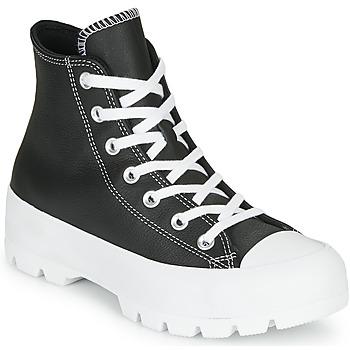 鞋子 女士 高帮鞋 Converse 匡威 CHUCK TAYLOR ALL STAR LUGGED - FOUNDATIONAL LEATHER 黑色
