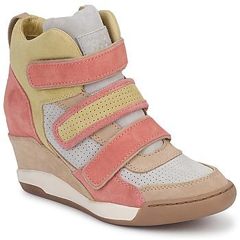 鞋子 女士 高帮鞋 Ash 艾熙 ALEX 珊瑚色 / 黄色 / 灰褐色