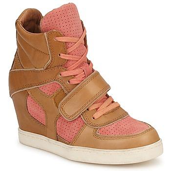 鞋子 女士 高帮鞋 Ash 艾熙 COCA 棕色 / 珊瑚色