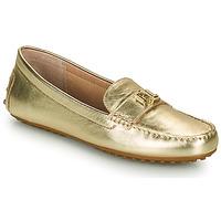 鞋子 女士 皮便鞋 Lauren Ralph Lauren BARNSBURY FLATS CASUAL 金色