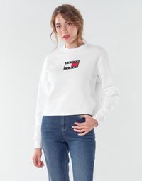 衣服 女士 卫衣 Tommy Jeans TJW TOMMY FLAG CREW 白色
