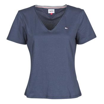 衣服 女士 短袖体恤 Tommy Jeans TJW SLIM JERSEY V NECK 海蓝色