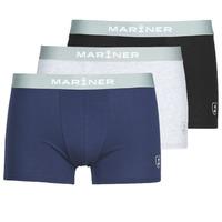 内衣  男士 拳击 Mariner PACK COTON BIO 黑色 / 海蓝色 / 灰色