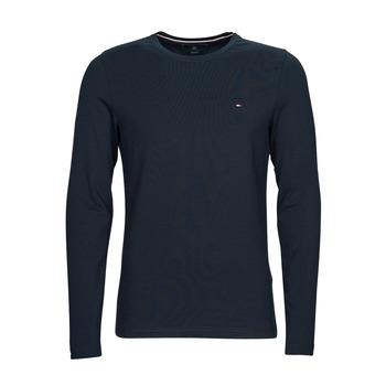 衣服 男士 长袖T恤 Tommy Hilfiger STRETCH SLIM FIT LONG SLEEVE TEE 黑色