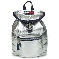 包 女士 双肩包 Tommy Jeans TJW HERITAGE SM PUFFER BACKPACK 银色
