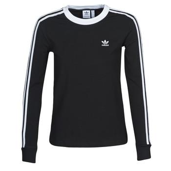 衣服 女士 长袖T恤 Adidas Originals 阿迪达斯三叶草 3 STR LS 黑色