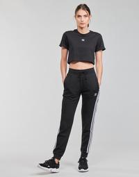 衣服 女士 厚裤子 Adidas Originals 阿迪达斯三叶草 SLIM PANTS 黑色