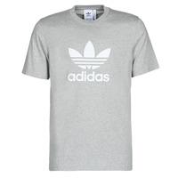 衣服 男士 短袖体恤 Adidas Originals 阿迪达斯三叶草 TREFOIL T-SHIRT 灰色 / Moyen