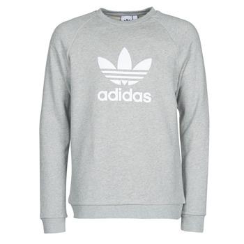 衣服 男士 卫衣 Adidas Originals 阿迪达斯三叶草 TREFOIL CREW 灰色 / Moyen