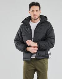 衣服 男士 羽绒服 Adidas Originals 阿迪达斯三叶草 PAD HOODED PUFF 黑色