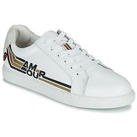 鞋子 女士 球鞋基本款 Bons baisers de Paname SIMONE AMOUR RETRO 白色 / 金色