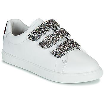 鞋子 女士 球鞋基本款 Bons baisers de Paname EDITH GLITTER TONGUE 白色