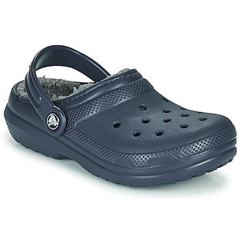 鞋子 儿童 洞洞鞋/圆头拖鞋 crocs 卡骆驰 CLASSIC LINED CLOG K 蓝色