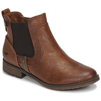 鞋子 女士 短筒靴 Mustang  棕色