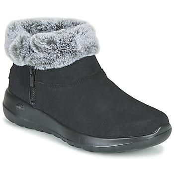 鞋子 女士 短筒靴 Skechers 斯凯奇 ON-THE-GO JOY 黑色