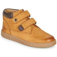 鞋子 男孩 短筒靴 Kickers TACKEASY 驼色 / 棕色