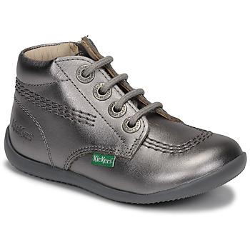 鞋子 女孩 短筒靴 Kickers BILLYZIP-2 银灰色