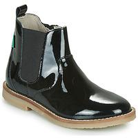 鞋子 女孩 短筒靴 Kickers TYPIK 黑色 / Verni