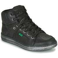 鞋子 女孩 高帮鞋 Kickers LOWELL 黑色