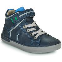 鞋子 男孩 高帮鞋 Kickers IRELAS 海蓝色 / 蓝色