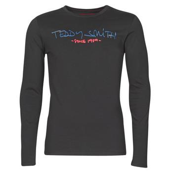 衣服 男士 长袖T恤 Teddy Smith 泰迪 史密斯 TICLASS BASIC M 黑色