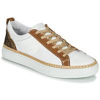 鞋子 女士 球鞋基本款 Philippe Morvan CORK V1 NAPPA BLANC 白色 / 驼色